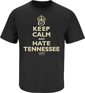 Smack Apparel Vanderbilt Football Fans. Keep Calm and Hate Tennessee Black T Shirt (SM-5X)