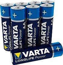 VARTA Longlife Power AA Mignon LR6 Batterie (8er Pack) Alkaline Batterie - Made in Germany - ideal für Spielzeug Taschenla...