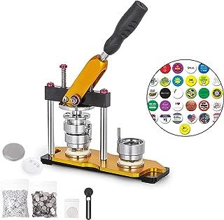 VEVOR Button Maker 37mm Badge Machine with 200 Sets Circle Button Parts Rotate Button Badge Maker Punch Press Machine for DIY Badges