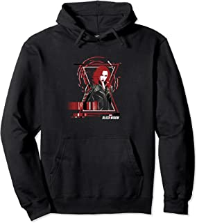 Marvel Black Widow Glitch Logo Dark Portrait Sweat à Capuche