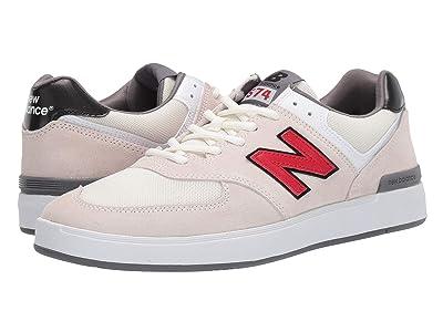 New Balance Numeric AM574 (White/Red) Men