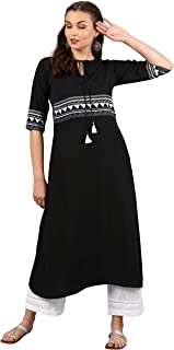 Indian Tunic Tops Crepe Kurti Set for Women