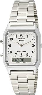 ساعة كوارتز للجنسين من كاسيو - بعرض انالوج-رقمي وسوار من الستانلس ستيل AQ-230A-7B