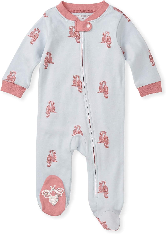 Burt's Bees Baby Baby Boys' Sleep and Play Pjs, 100% Organic Cotton One-Piece Romper Jumpsuit Zip Front Pajamas