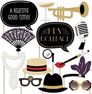 Roaring 20's - Twenties Art Deco Jazz 1920s Photo Booth Props Kit - 20 Count