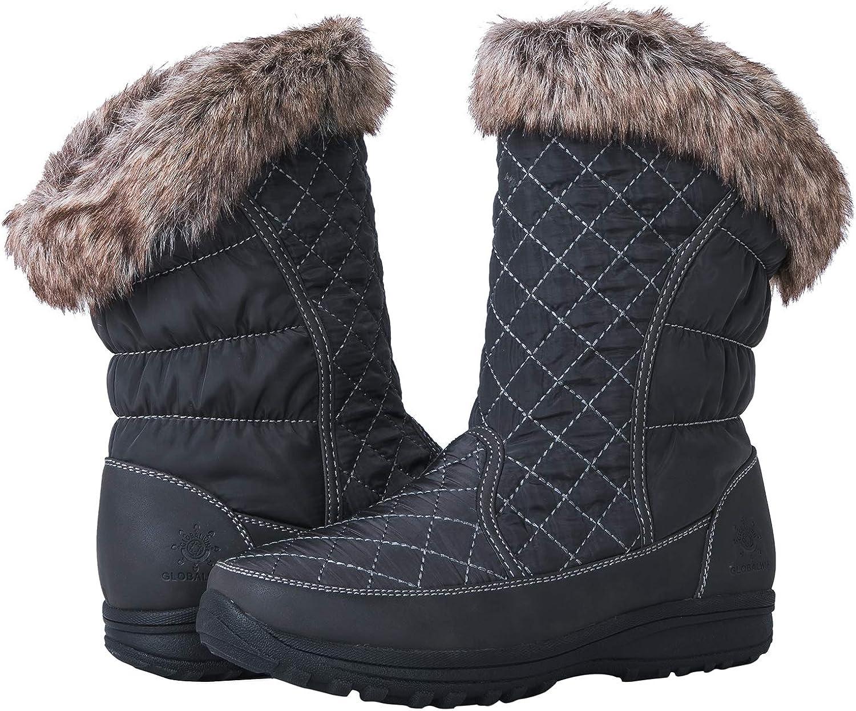 GLOBALWIN Women's 1825 Grey Snow Boots 8M