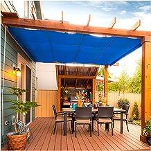 PENGFEI schaduwdoek Sunblock schaduwnet, blauwe schaduw zonnebrandcrème privacy isolatienetten, outdoor balkon plant cover...