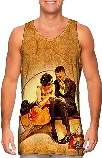Yizzam- Norman Rockwell - Girl Reading Palm (1921) -Tshirt- Mens Tank Top
