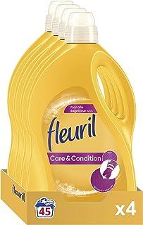 Fleuril Care & Condition, Vloeibaar Wasmiddel, Gekleurde en Bonte Was, 180 (4x45) Wasbeurten