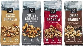 Avalanche Swiss Granola Assorted (Pack of 12), 1.76 Ounce Bag, All Natural, Kosher, Original Organic, Original w Raisins Organic, Red Berries Organic, Coconut, Quinoa, Chocolate (3 of each)