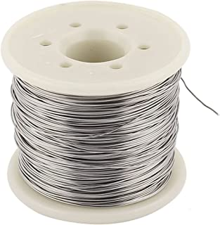 SOURCING MAP sourcingmap® 80 nicromio 0,5mm 24 AWG Rollo 70M de 5,755 Ohms/m Cable calefactor