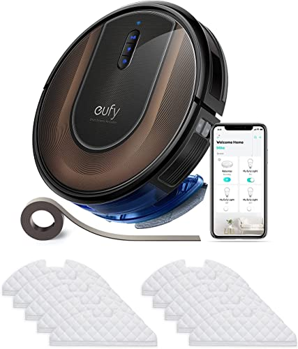 eufy by Anker, eufy by Anker, RoboVac G30 Hybrid, Robot Vacuum with Smart Dynamic Navigation 2.0, 2-in-1 Sweep and mop, 2000Pa Suction, Wi-Fi, Boundary Strips丨eufy RoboVac Disposable Mopping Cloths