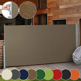 Toldo Lateral Retráctil | Color y Tamaño a Elegir: 160x300cm, 180x300cm, 200x300cm | Protección de la Intimidad, Persiana Lateral, Protección Solar para Jardín, Terraza y Balcón