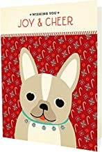 product image for Night Owl Paper Goods Frenchie Joy Holiday Cards (10 Pack)