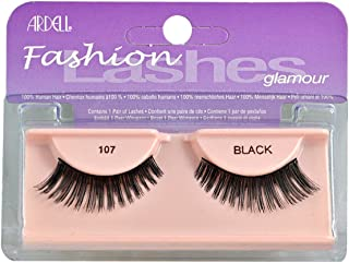 Ardell Fashion Eye Lashes, #107 Black - 1 Pair, Pack of 4