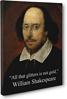 All That Glitters, William Shakespeare Quote CANVAS