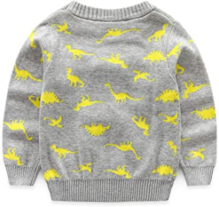 Knitted Baby Boy Sweater Casual Autumn New Cartoon Dinosaur Pattern Warm Cotton Boys Sweater and Pullovers Children