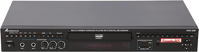 Acesonic DGX 220 HDMI Multi Format Karaoke Player with 4X CDG to MP3G Converter and..