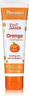 Himalaya Botanique Kids Toothpaste, Orange Flavor to Reduce Plaque and Keep Kids Brushing Longer, 4 oz, 1 Pack