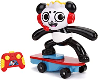 Jada Toys Ryan'S World Toy Review Combo Panda Wheely Popping Stunt Skateboard RC, Remote Control Vehicle 2.4 Ghz