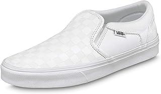 Vans Asher, Slip-on Sneaker Uomo, Bianco ((Checkerboard) White/White W51), 50 EU