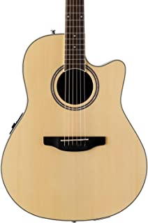 Ovation Applause 6 String Acoustic-Electric Guitar, Right, Natural, Mid-Depth (AB24II-4)