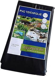 Estanque de lámina de PVC 9 M x 6 M 0,5 mm de colour negro y protector de pantalla para el jardín de estanque