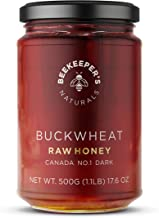 Beekeeper's Naturals Honey , Unprocessed Ultra-Pure Honey, Containing No Additives (1.1lbs) Buckwheat 17.6 Ounce