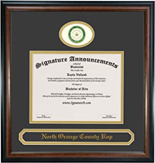 Signature Announcements Baylor University (BU) Undergraduate and Graduate Graduation Diploma Frame with Sculpted Foil Seal & Name (Matte Mahogany, 20 x 20)