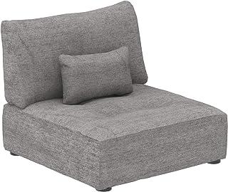 Marca Amazon -Alkove Elvas - Módulo uniplaza con almacenaje y cojín adicional para sofá modular 93 x 100cm gris