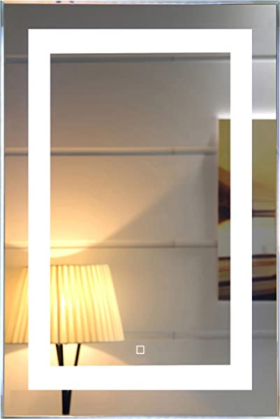 24X36 Inch Wall Mounted Led Lighted Bathroom Mirror With Touch Switch GS099 2436 24x36 Inch