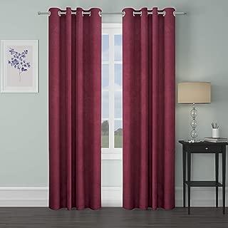 WEAVE & DÉCOR Blackout Energy Efficient Grommet Curtain Panel, 46