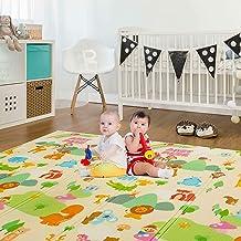 Sampri Kid's Anti Skid Double-Sided Waterproof Crawl Mat Carpet (6.5 x 6 ft, Multicolour)
