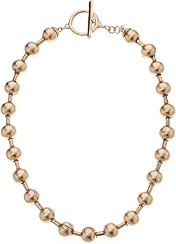 Steve Madden Beaded Bar Ring Necklace