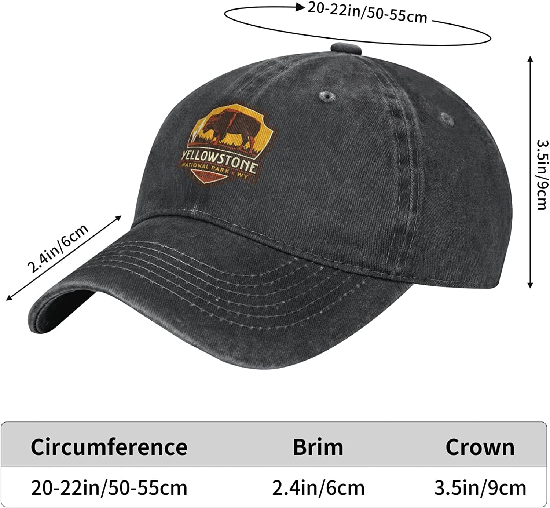Yellowstone National Park Dutton Ranch Barn Unisex Denim Baseball Cap Adjustable Hats Dad Men Women