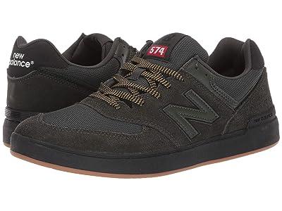 New Balance Numeric AM574 (Green/Black) Skate Shoes