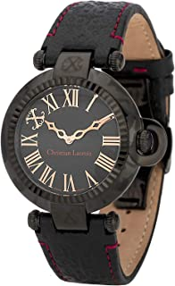 Christian Lacroix Women's Leather Band Watch, Analog Display