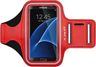J&D Armband Compatible for Samsung Galaxy S10/Galaxy S10e/Galaxy S9/S8/S7/S7 Edge/iPhone X/iPhone Xs/iPhone 8/7/6S/iPhone 6 Armband, Sports Running Armband w/Key Holder Slot & Earphone Connection