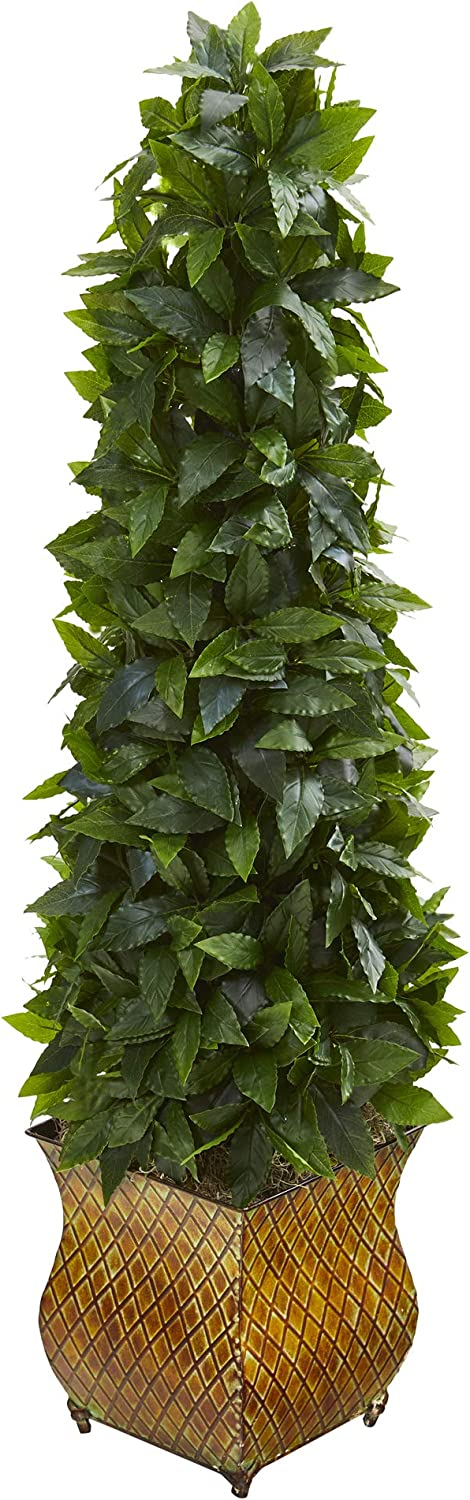 Nearly Natural 38in. Sweet Bay Cheap SALE Start Cone Decorativ Detroit Mall Artificial Topiary