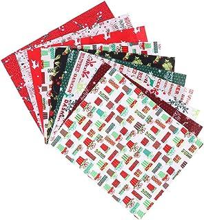 ARTIBETTER 20 Peças de Tecido de Algodão de Natal Natal Acolchoado Tecido Feixe Quadrados Tecido de Costura de Férias para...