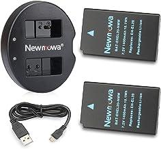 Newmowa EN-EL20 Batería de repuesto (2-Pack) y Kit de Cargador Doble para Micro USB portátil para Nikon EN-EL20,Nikon EN-EL20a,Nikon 1 J1,Nikon 1 J2,Nikon 1 J3,Nikon 1 S1,Nikon 1 V3,Nikon Coolpix A,Nikon 1 AW1