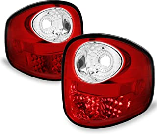 Fits 2001-2003 F-150/2004 F150 Heritage Model Pickup Flareside Bed LED Red Clear Tail Lights LH+RH Replacement