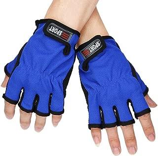 DZT1968 Men&Women Fingerless Exposed Breathable Fishing Glove Anti Slip 5 Cut Glove Random Color 15x10cm