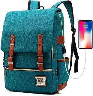 Travel Laptop Backpack, College Backpack, Vintage Fashion Travel Bag for Women Men Fits 15.6 Inch Laptop and Notebook