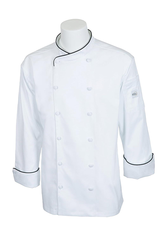 Mercer Culinary M62020WRBM Renaissance Men's Milwaukee Mall Chef Scoop Cheap Jac Neck