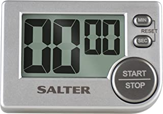 Salter Big Button Timer - Electronic Digital Kitchen Stopwatch, Memory Function, Loud Beeper, Magnetic/Self Standing, Prop...