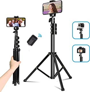 """Selfie Stick Tripod, QITELE 51"""" Extendable Cell Phone Tripod with Wireless Bluetooth Remote for iPhone, Android Phone & Ca..."""