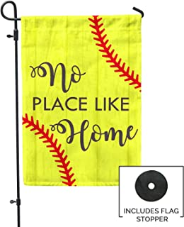 Second East No Place Like Home Softball Garden Flag Outdoor Patio Seasonal Holiday Fabric 12