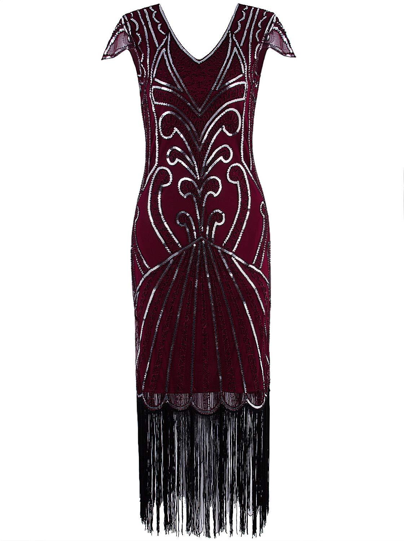 Vijiv Vintage Embellished Cocktail Flapper