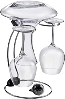 Wine Enthusiast Folding Glassware Drying Stand & Decanter Cleaning Beads (2 Piece Set), Holds One Wine Decanter and 2 Wine Glasses